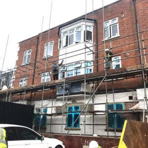 Removal of our scaffolding systems from one of building sites