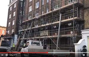 We have provided interested parties in interior and exterior scaffolding